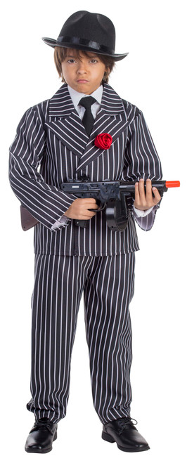 Child Pinstriped Gangster Costume By Dress Up America