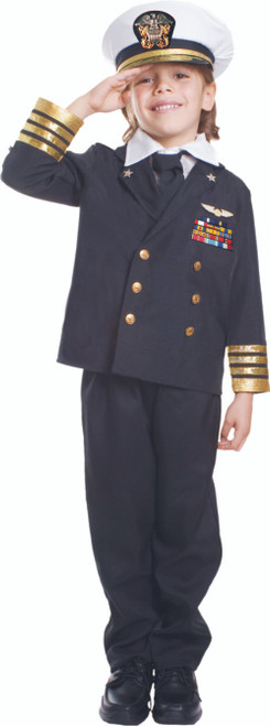 Kids Navy Admiral Black Costume By Dress Up America