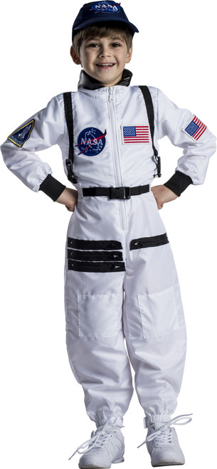 Attractive White Astronaut Space Suit For Kids By Dress Up America