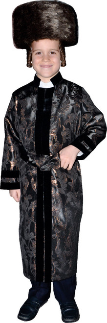 Kids Black Rabbi Coat By Dress Up America