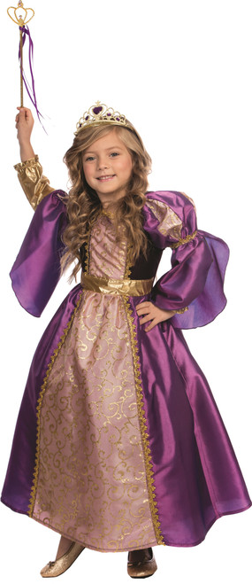 Purple Royalty Princess Costume for Girls Little Princess Dress By Dress Up America