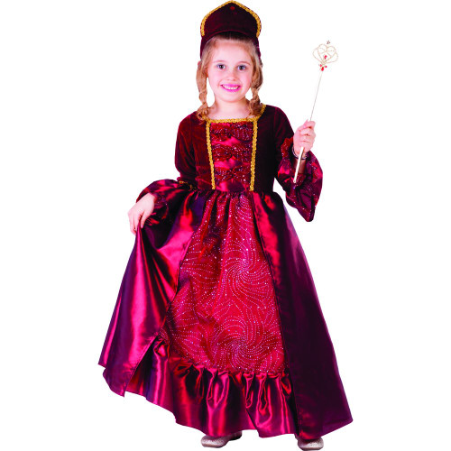 Burgundy Belle Ball Gown for Little Girls By Dress Up America - Size Toddler 4