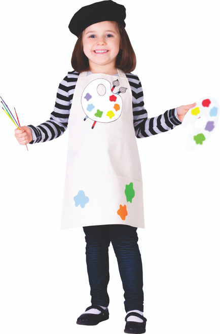 Little Girl Talented Artist Costume By Dress Up America