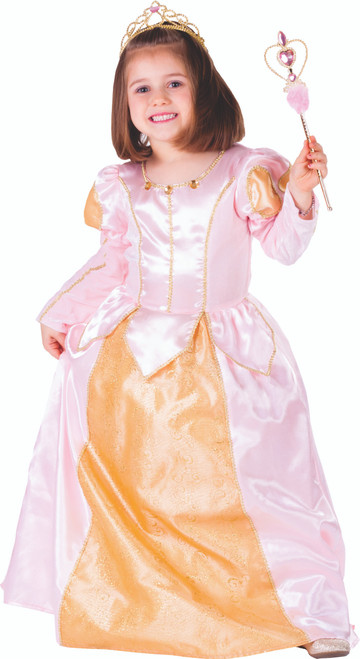 Little Girl Pink Belle Ball Gown By Dress Up America