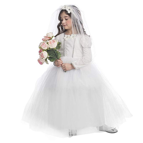Bridal Princess Costume Pretty Little Wedding Dress Costume for Girls By Dress Up America