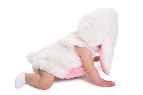 Pink and white Cozy Rabbit