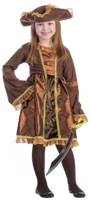 Little Pirate Girl Costume by Dress Up America