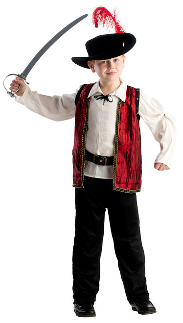 Kids Courageous Musketeer Costume by Dress Up America