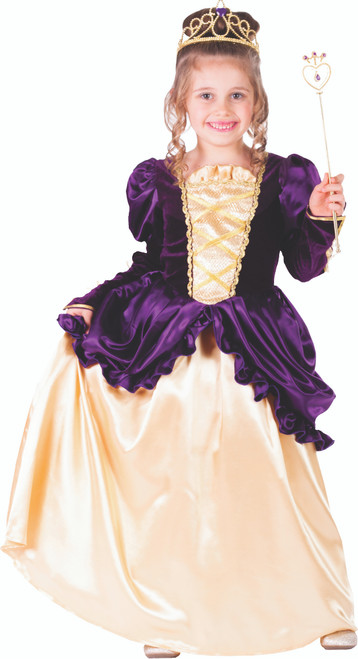 Little Girl Purple Belle Ball Gown by Dress Up America