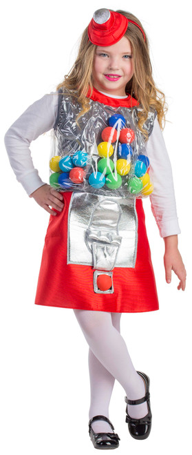 Gumball Machine Costume for Girls by Dress Up America