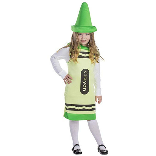 Kids Green Crayon Costume By Dress Up America