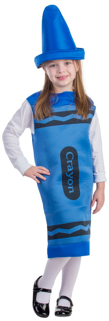 Kids Blue Crayon Costume By Dress Up America