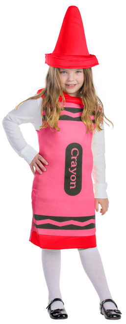 Kids Red Crayon Costume By Dress Up America