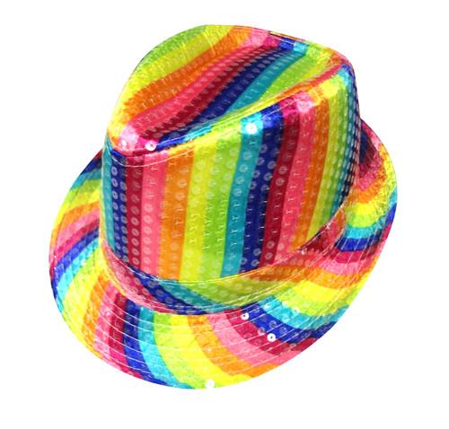 Rainbow Striped Hat