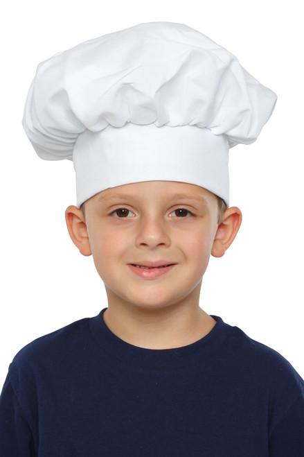 Kids Black Gingham Chef Hat