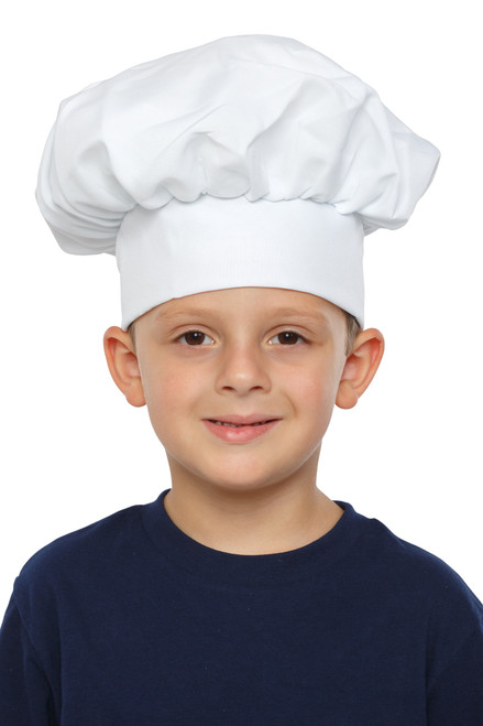 Kids Black Gingham Chef Hat