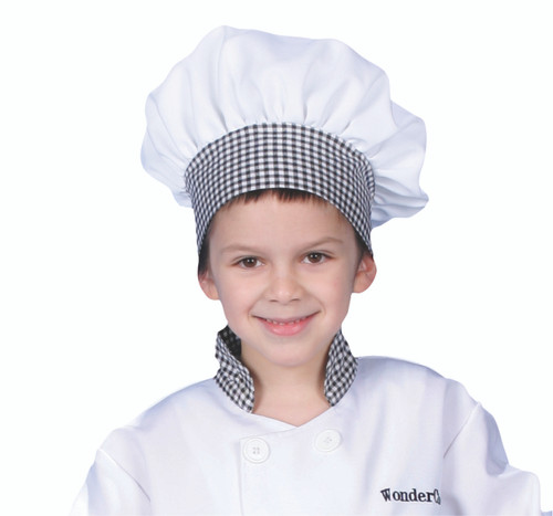 Kids Red Gingham Chef Hat