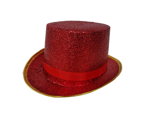 Deluxe Red Top Hat For Adult By Dress Up America