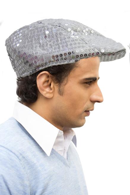 Silver Flat Cap