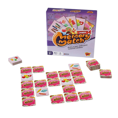 Adorable Candy Memory Match Game Make a pair with your Colorful Candies