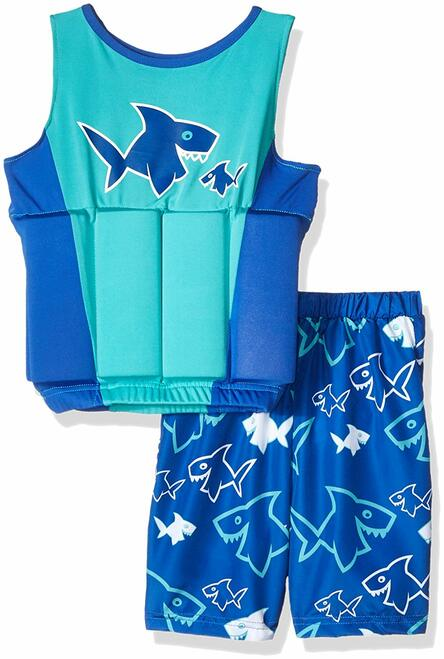 SwimWays Float Shorty - Blue & Turquoise (M/L)