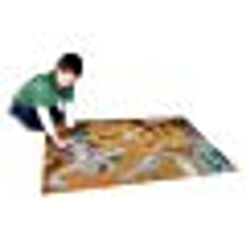Hot Wheels Playmat Rug with Hot Wheels vehicle for kids indoor and outdoor play.