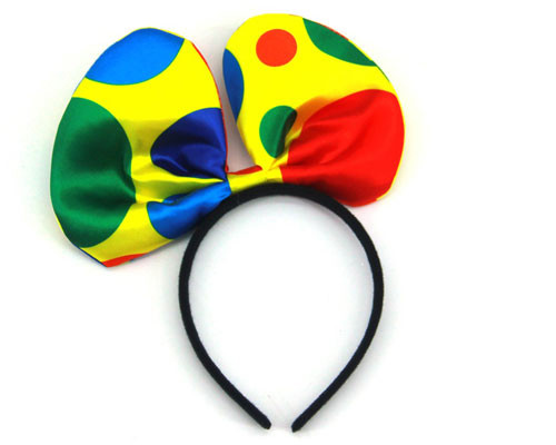Polka Dot Clown Headband