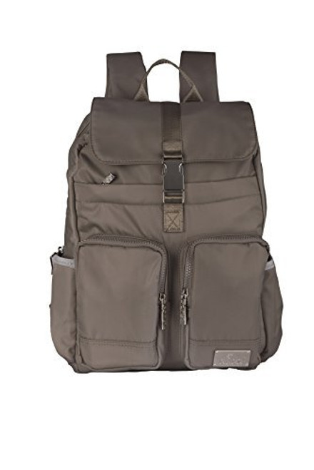 Blubel Buckle Fashion zippered casual style Backpack for girls and boys students recommended for ages 10+ (Grey)