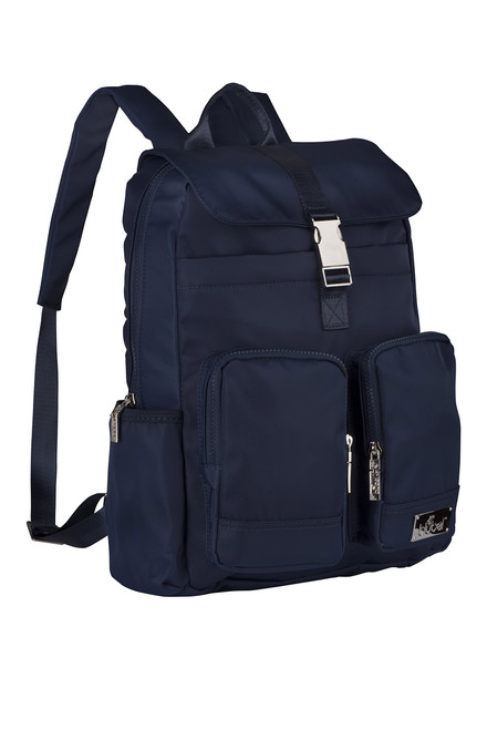Blubel Buckle Fashion zippered casual style Backpack for girls and boys students recommended for ages 10+ (Blue)