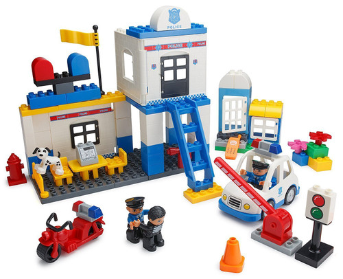 Play Build Police Station Building Blocks Set