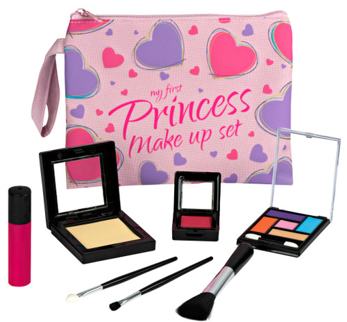 Playkidz My First Princess Pretend Makeup Set - 8 Piece Pretend Play Makeup Set  Realistic Looking Toys Pretend Makeup for Girls
