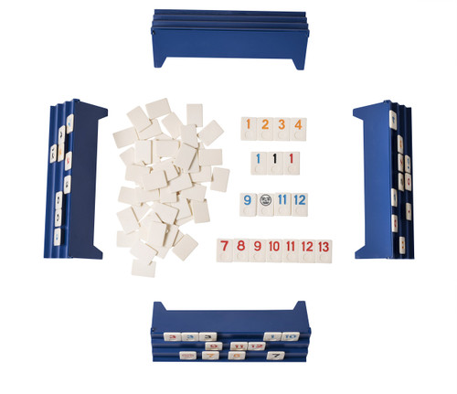 Point Games: Full Size Rummy Game with 3 Tier Exclusive Folding Boards in Super Durable Travel Bag