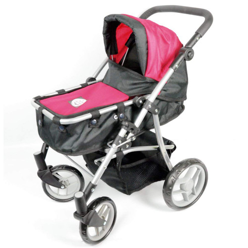 2-1 Pink Babyboo Doll Stroller for Girls Ages 2+ - Doll Stroller for Toddlers and Girls - Adjustable Handle and Folds for Storage - View All Pictures -Best Doll Stroller Gift for Girls