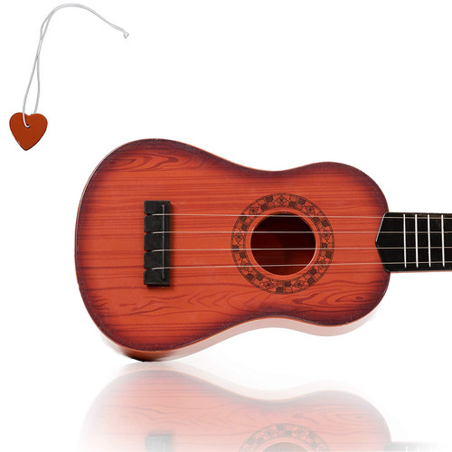 KidsTech 4 String Acoustic Guitar Toy for Kids with Vibrant Sounds and Tunable Strings
