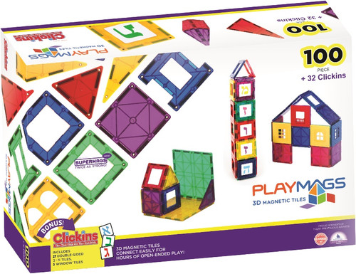 Playmags 100 +32 Pcs. Alef Beis Set