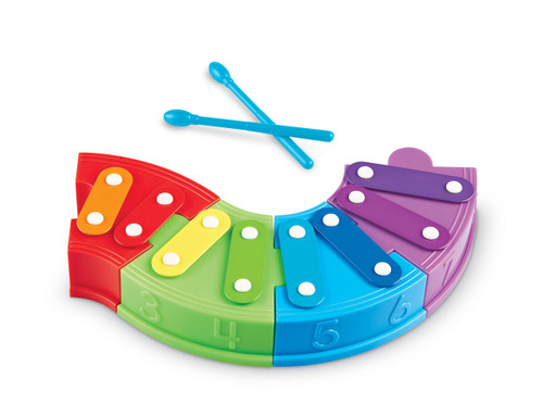 Learning Resources Rainbow Learning Xylophone, 6 Pieces