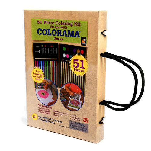 Colorama Colored Pencils - Color Kit with Case- 51pc
