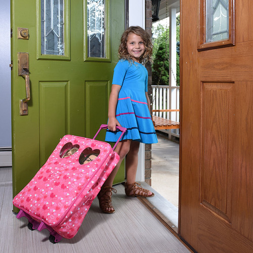 Doll Double Travel Trolley with Double Sleeping Bag - Doll Travel case Fits 18 inch Dolls