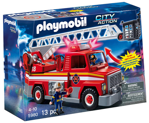 PLAYMOBIL Rescue Ladder Unit Fire Truck