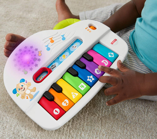 Fisher-Price Laugh & Learn Silly Sounds Light-up Piano, Multicolored