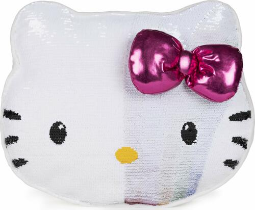 GUND Sanrio Hello Kitty Color Changing Rainbow Sequin Pillow Plush, 11.75""