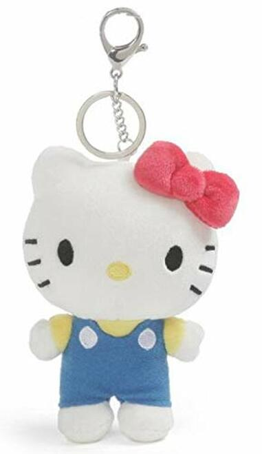 Gund Hello Kitty Plush Keychain in her Iconic Red Bow