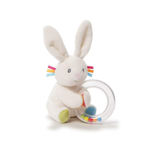 Baby GUND Flora the Bunny Rattle Plush, 5""