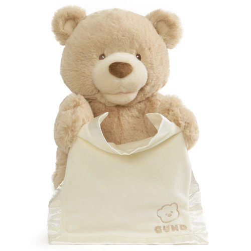 GUND Peek-A-Boo Teddy Bear Animated Stuffed Animal Plush, 11.5""