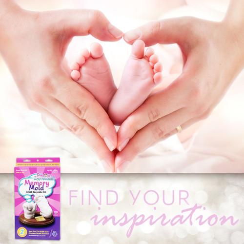 Darice EZ-06-529 Precious Impressions Memory Mold Infant Kit, Keepsake, White