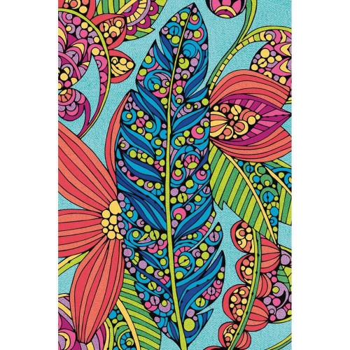 Dimensions Feather and Flowers Color By Number Poster, 24''L x 36''W