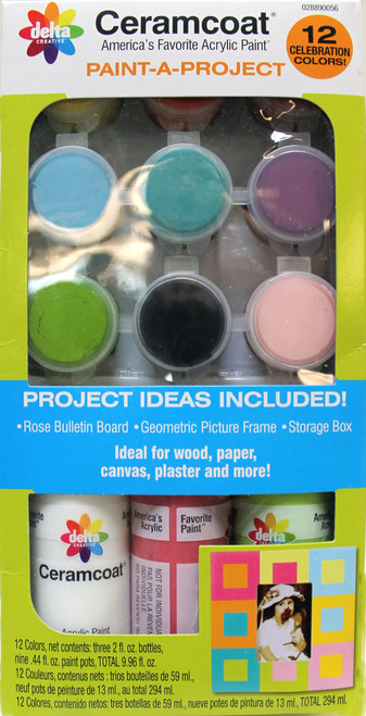 Delta Creative Paint-A-Project with 12 Celebration Colors,