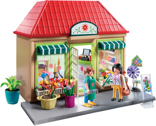 Playmobil My Flower Shop Playset, Colourful (70016)