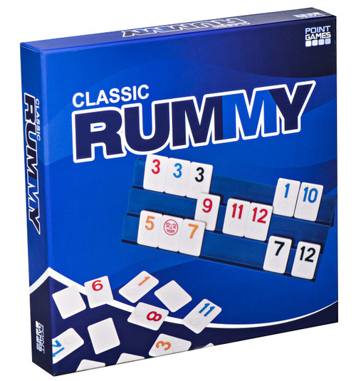 Point Games Full Size Rummy Game with 3 Tier Exclusive Folding Boards in Super Durable Box.
