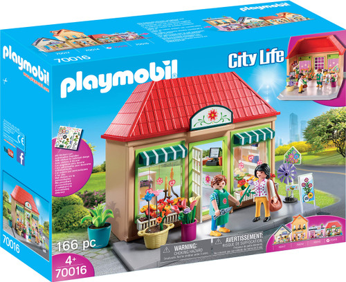 Playmobil My Flower Shop Playset, Colourful (70016) - QTS Toy Drive
